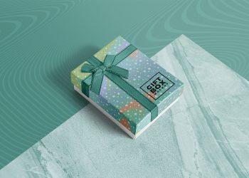Free Photorealistic Gift Box Mockup