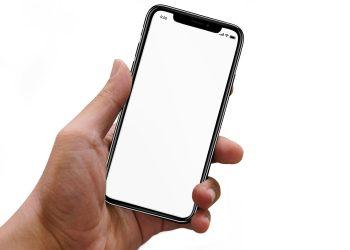 Hand Holding iPhone Mockup