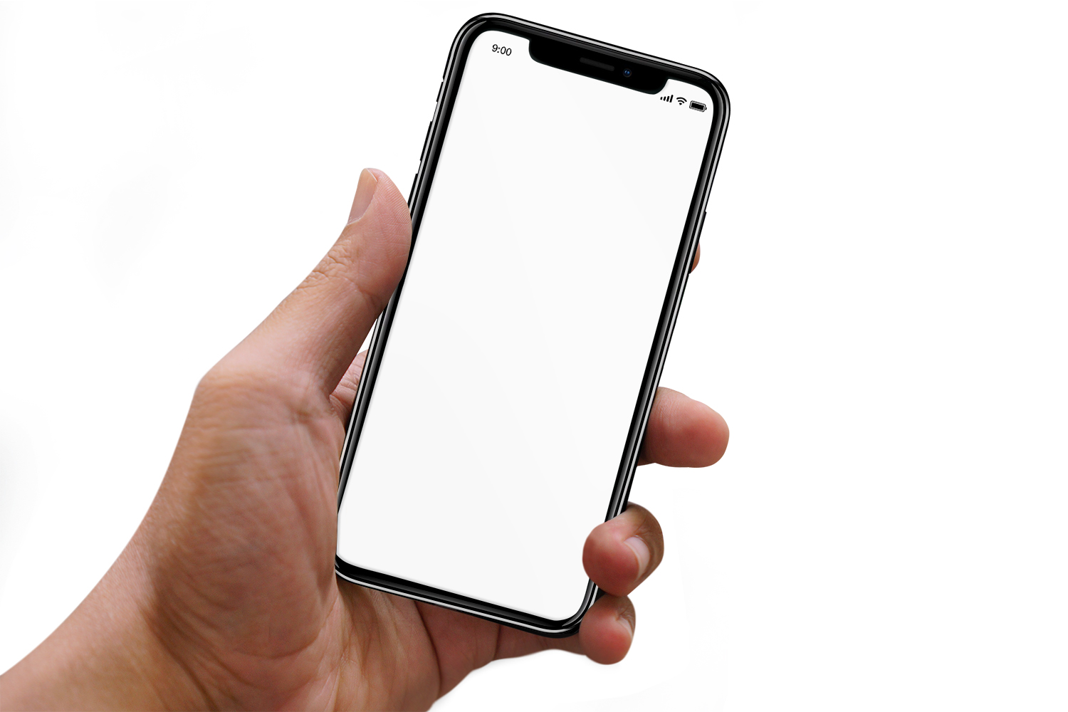 Hand Holding iPhone Mockup