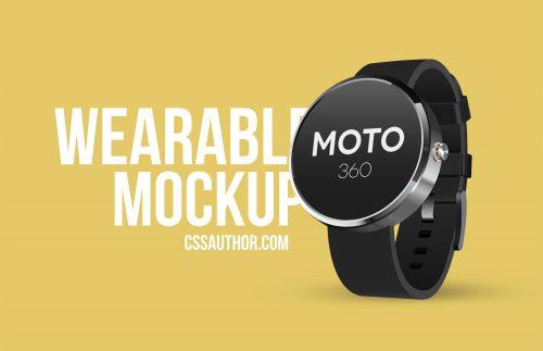 Moto 360 PSD Mockup