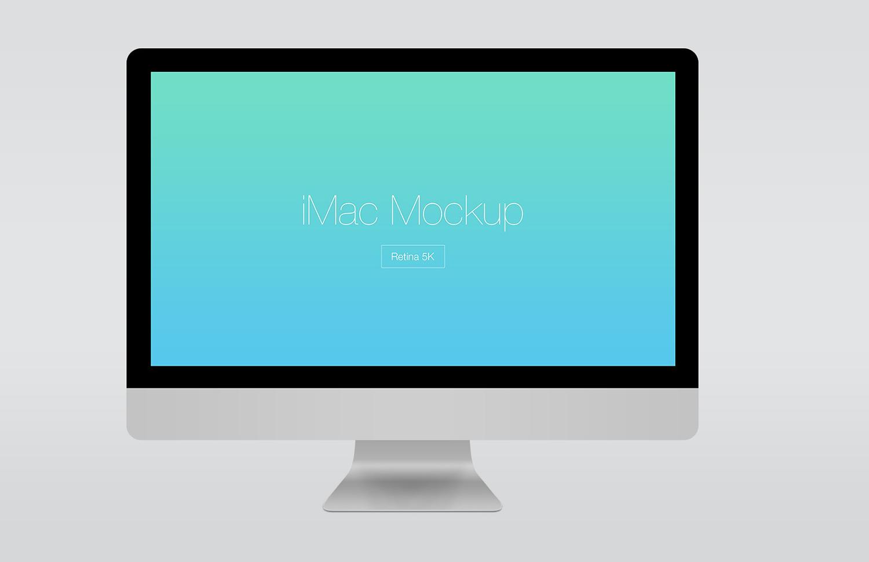 Retina 5k iMac Mockup