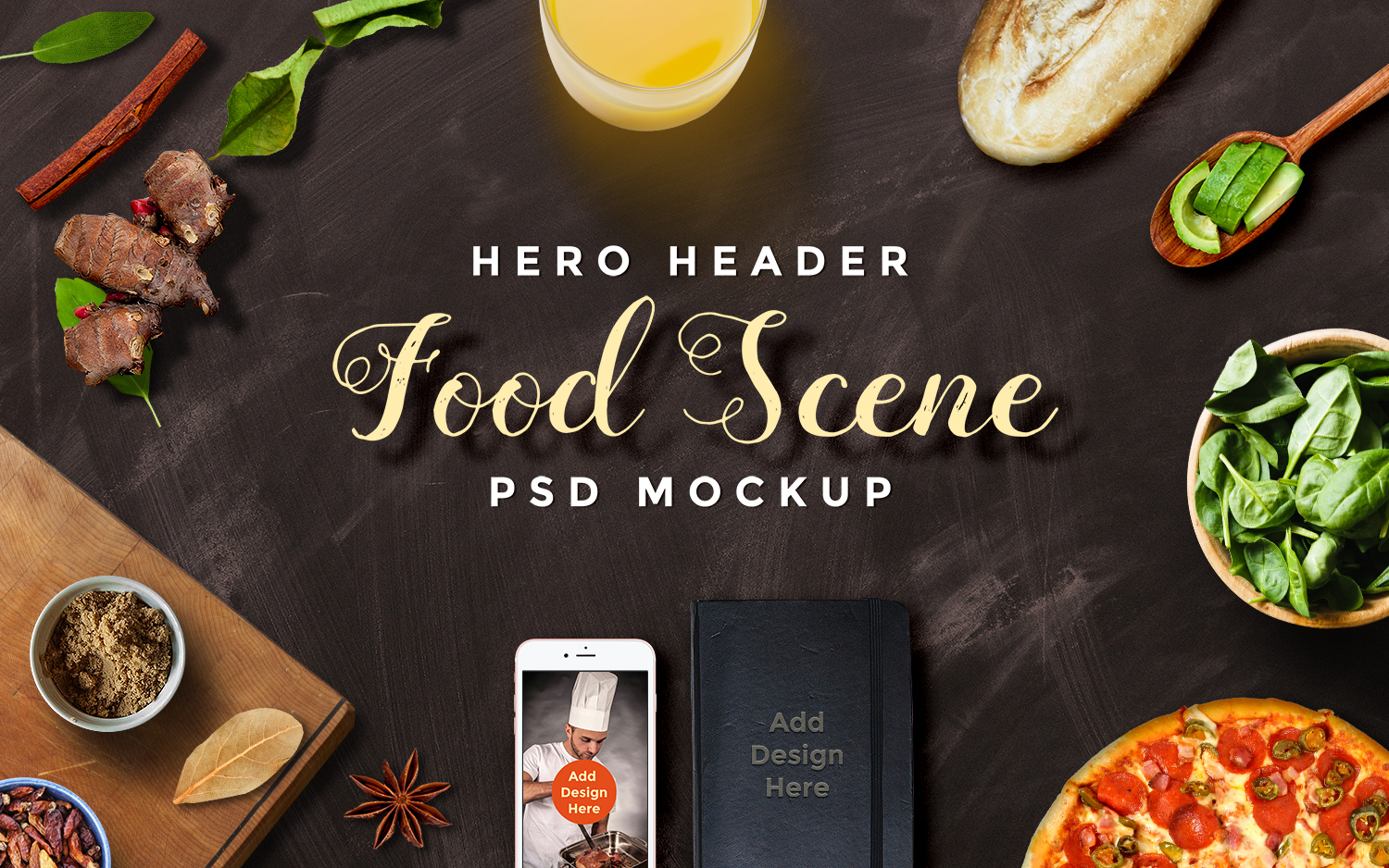 Set Hero Header Scene Mockups