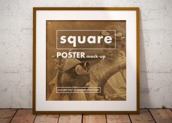 Square Poster Mockup