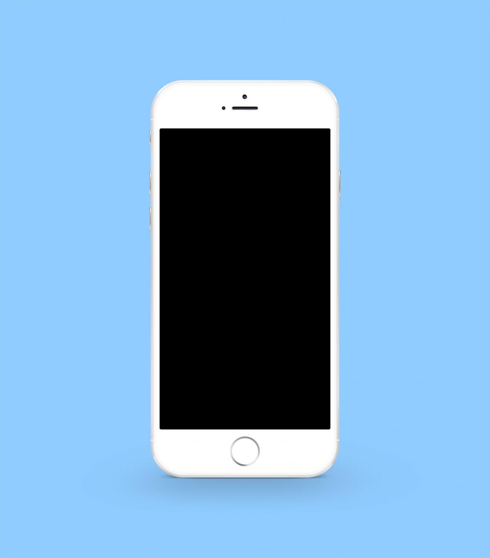 White iPhone 6 Plus Mockup