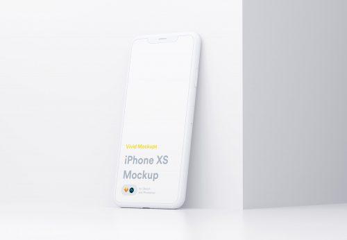 White iPhone Free Mockup