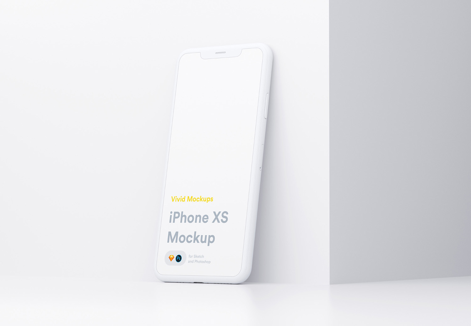 White iPhone Free Mockup
