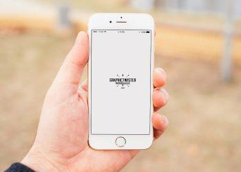 iPhone 6 Man Holding Mockup