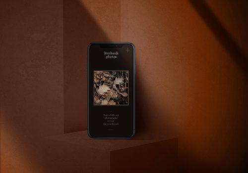 iPhone 6 PSD Mockup Dark Background