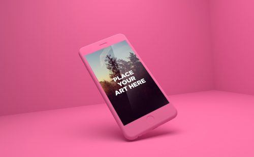 iPhone 6 Plus Playful PSD Mockups