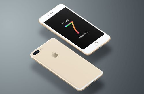 iPhone 7 Gold Mockup
