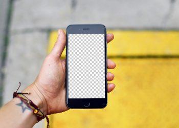 iPhone 7 Hand Mockup Free