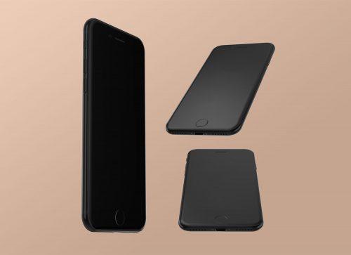 iPhone 7 Jet Black Mockup
