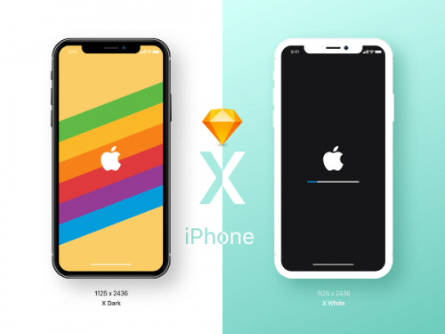 iPhone X Sketch Mockup