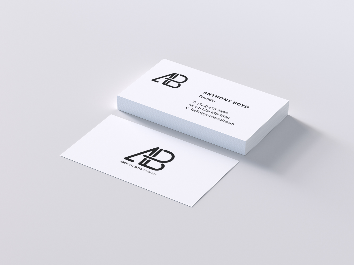 7 Business Card Mockups