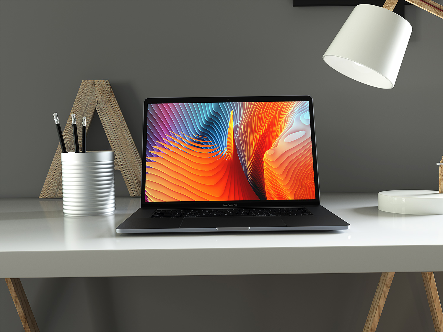 Apple MacBook Pro Mockup Free