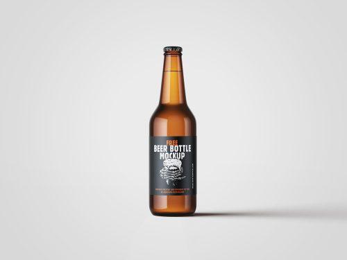 Customizable Beer Bottle Mockup