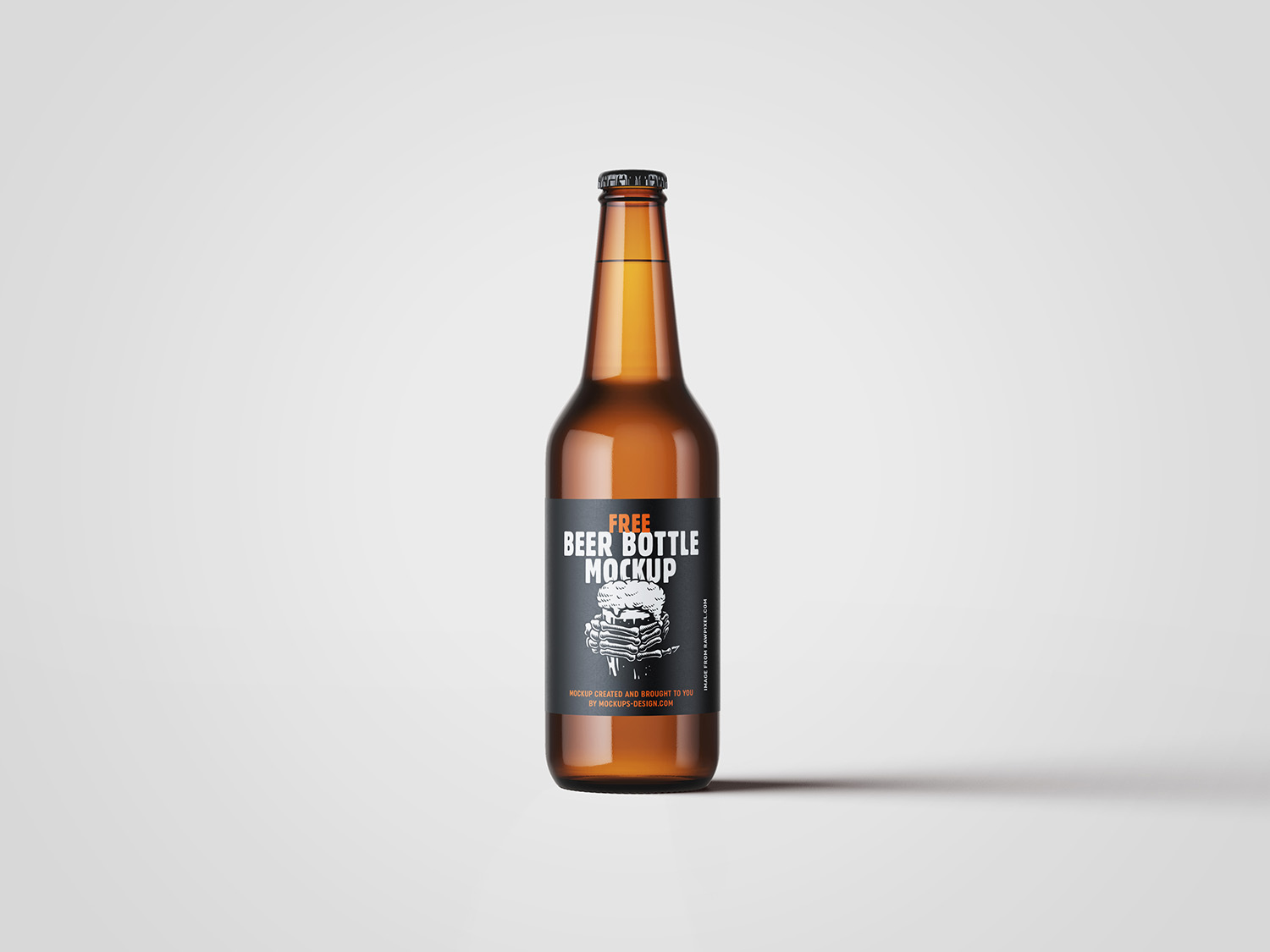 Customizable Beer Bottle Mockup