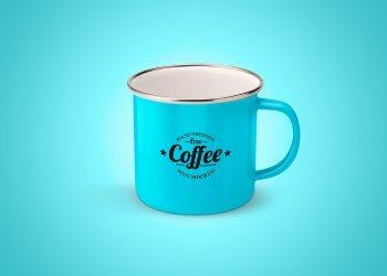 Enameled Mug Mockup Free