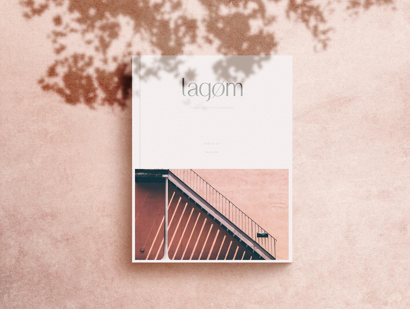 Free A4 Magazine Mockup