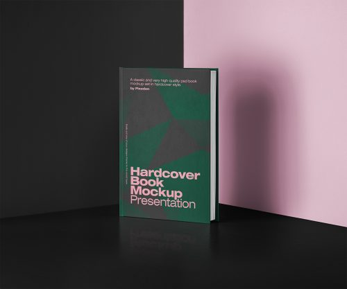 Free Book Mockup Hardcover