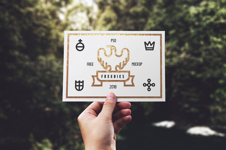 Greeting Card Free Mockup