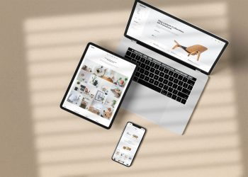 Realistic iPhone iPad Macbook Mockup