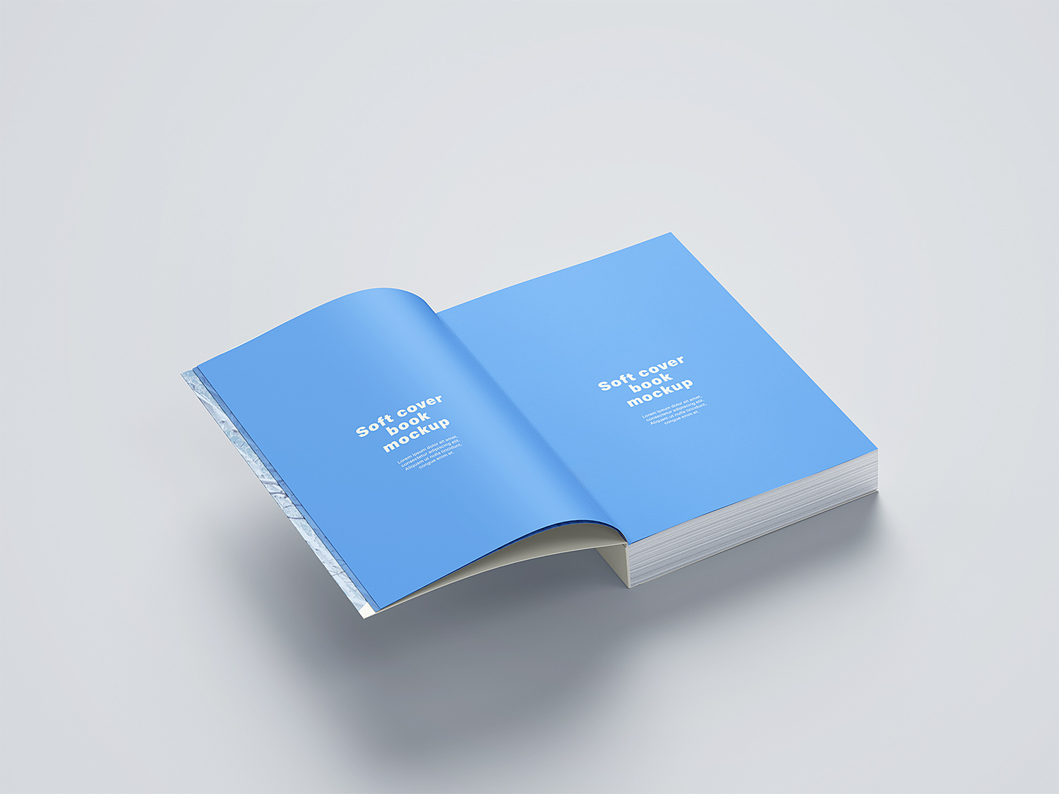 Free Softcover Book Mockup Set