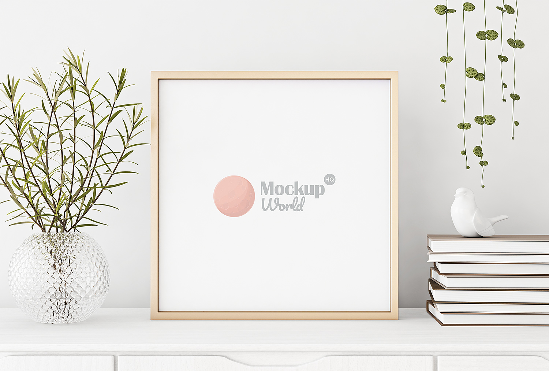 Square Poster Frame Mockup