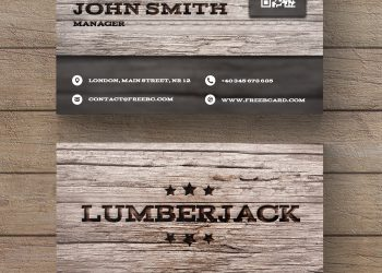 Wooden Business Cards PSD