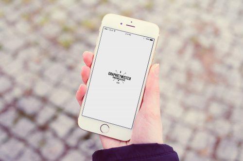iPhone 6 Girl Hand Mockup