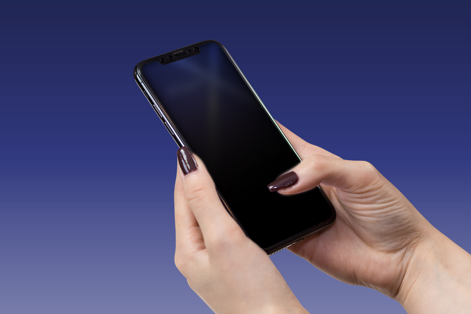 iPhone Female Hand Mockup