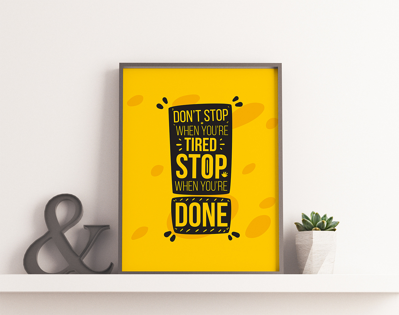 Brand Poster Frame Mockup