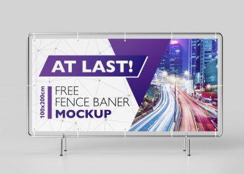 Fence Banner Mockup