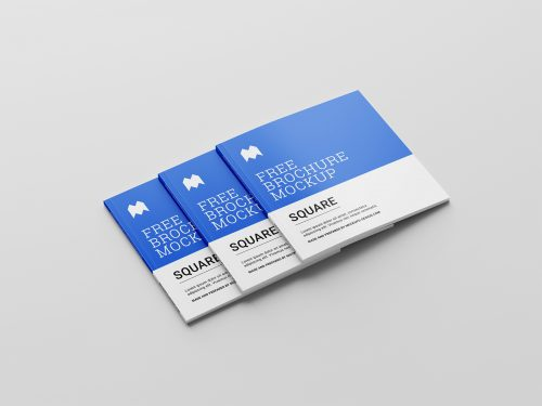 Free Binding Square Brochure Mockup