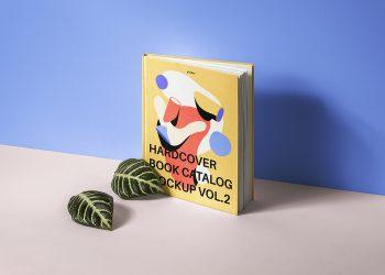 Free Hardcover Book Catalog Mockup
