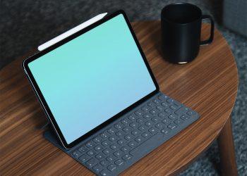Free New iPad Pro Mockup with Keyboard