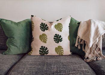 Free Pillow Mockup on the Sofa