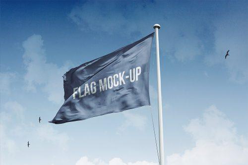 Mockup Flag Free PSD