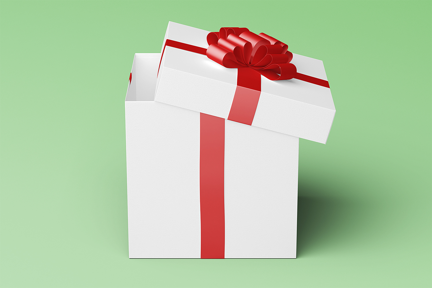 Square Gift Box Package Mockup