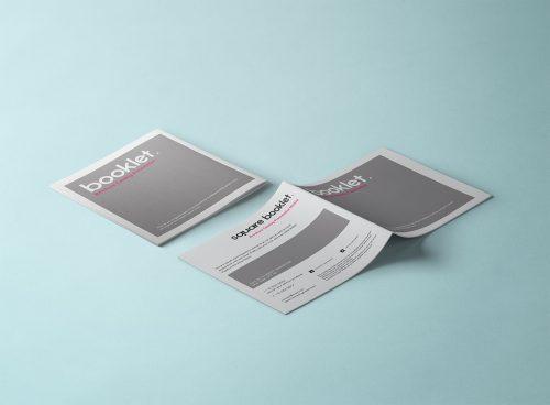 Square PSD Brochure Mockup