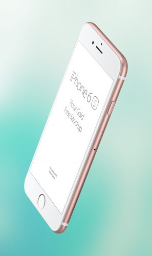iPhone 6s Rose Gold Edition Mockup