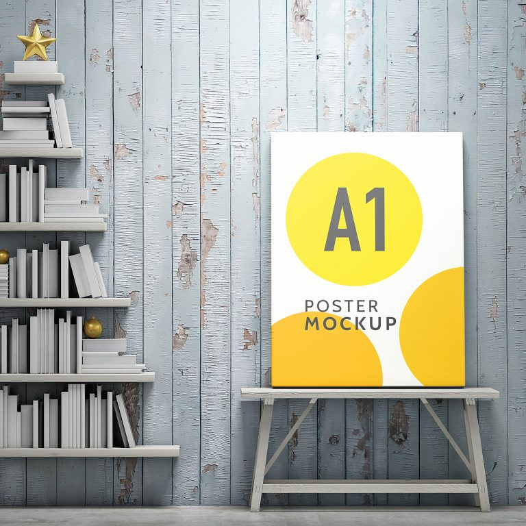 A1 Poster Mockup Free PSD