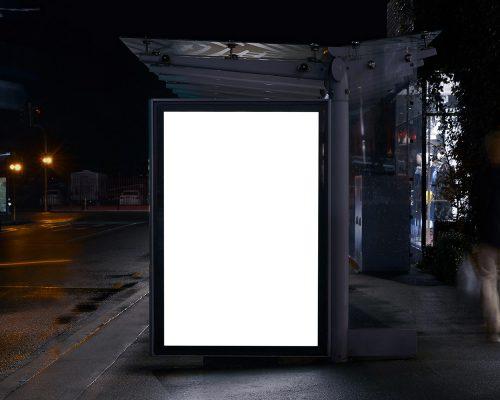Bus Shelter Poster PSD Mockup