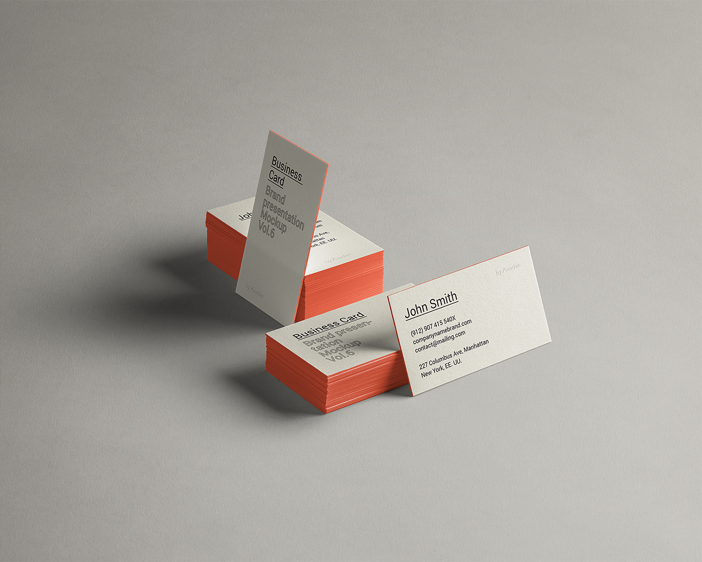 Free PSD Business Card Brand Mockup