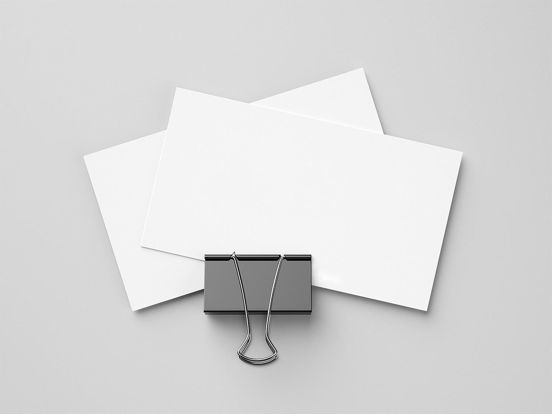 Business Card with Foldback Clip Mockup