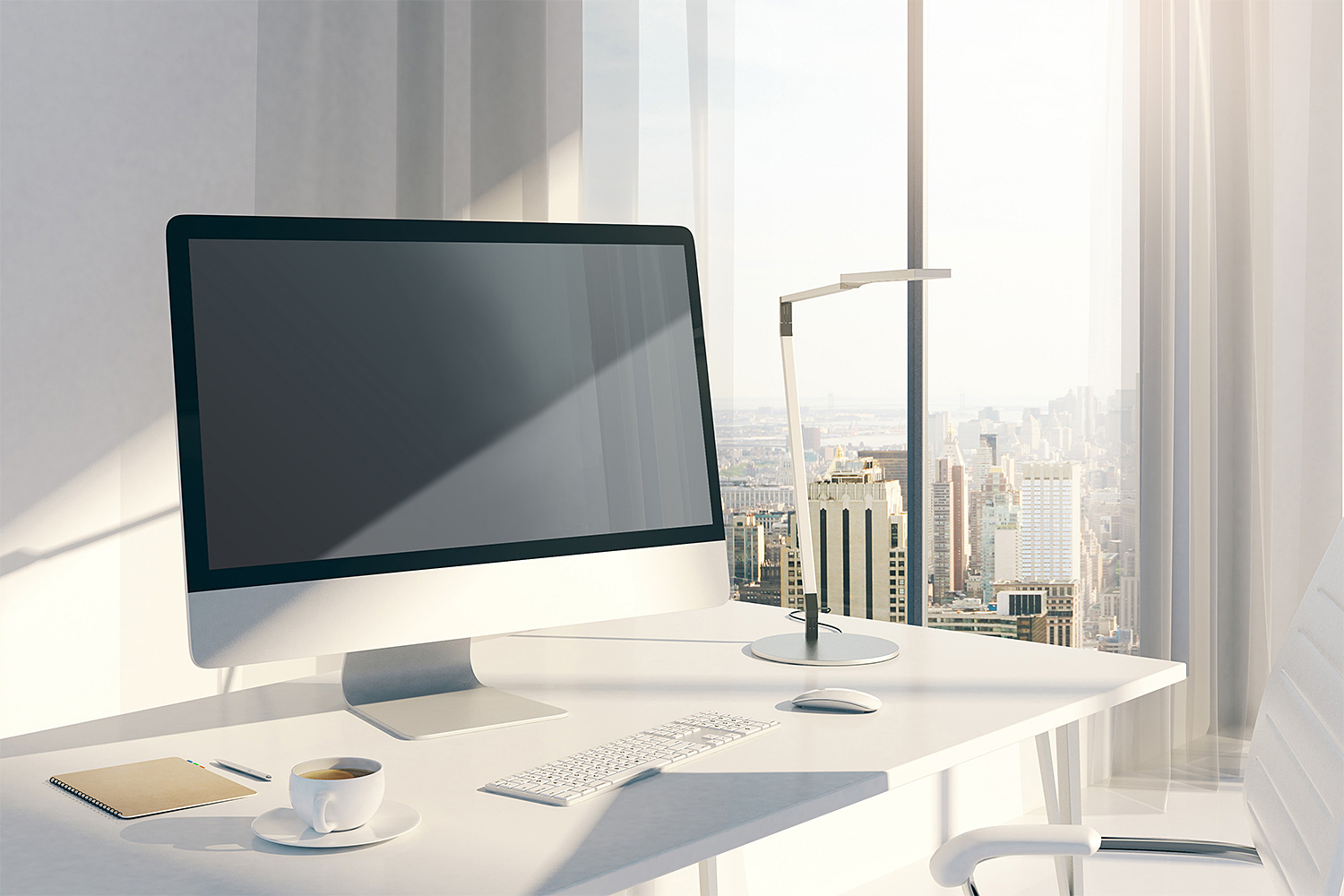 Desktop iMac Screen Mockup Free