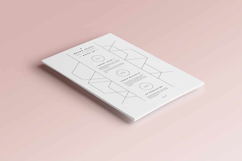 Free A4 Paper Branding Mockup