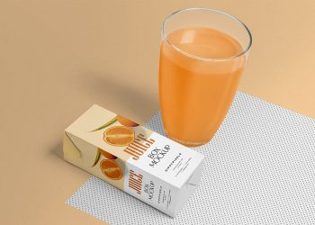 Free Healthy Juice Packaging Mockup