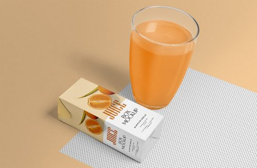 Free Healthy Juice Packaging Mockup