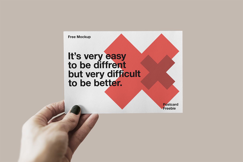 Free Postcard PSD Mockup